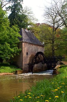 Watermill In Springtime Stock Images