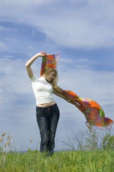 Free Girl With Scarf Royalty Free Stock Images - 5188849