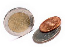Free Euro Versus Dollars Royalty Free Stock Image - 5188896