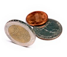 Free Euro Versus Dollars Royalty Free Stock Image - 5188916