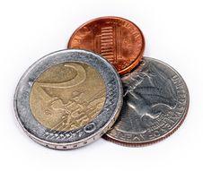 Free Euro Versus Dollars Stock Photography - 5188922