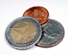 Free Euro Versus Dollars Royalty Free Stock Image - 5188936