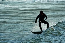 Free Surfer Doing A Maneuver Stock Images - 5189244