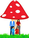 Free Family And Mushroom Stock Images - 5194954