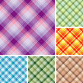 Free Many Seamless Plaid Patterns Royalty Free Stock Photography - 5199547