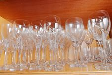 Free Crystal Glasses Royalty Free Stock Photography - 5190037