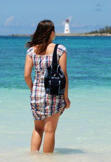 Free Standing On Nassau Beach Stock Photo - 5191130
