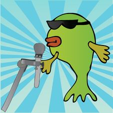 Free Cool Fish On The Mic Royalty Free Stock Photography - 5191637