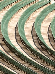 Free Green Amphitheater Benches Royalty Free Stock Image - 5191686
