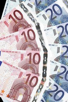 Free Money - Twenty And Ten Euro Notes Stock Photo - 5191880
