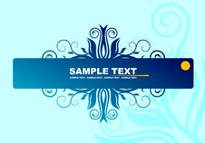 Free Blue Banner Royalty Free Stock Image - 5191996