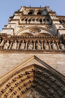 Free Tower Of Notre Dame De Paris, Gothic Cathedral, France Stock Photography - 5192102