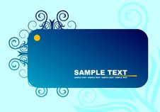 Free Blue Banner Royalty Free Stock Photography - 5192187