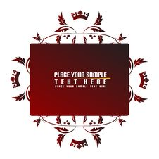 Free Red, Floral Banner Royalty Free Stock Photos - 5192268