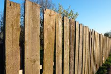 Free Old Wooden Fence Stock Image - 5192441