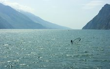 Free Surf-riding On Garda Lake Stock Images - 5192894