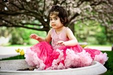 Free Girl In Flower Garden Stock Photos - 5193013