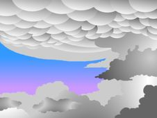 Free Mammatus Clouds, Bitmap Stock Photo - 5193140