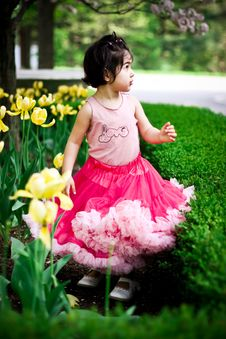 Free Girl In Flower Garden Royalty Free Stock Photos - 5193288