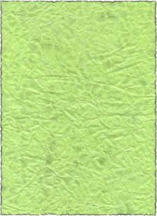 Free Vintage Isolated Old Retro Ripped Green Paper Royalty Free Stock Image - 5193646