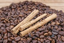 Free Cinnamon And Coffee Royalty Free Stock Photo - 5193895