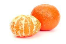 Free Two Tangerines Royalty Free Stock Images - 5194249