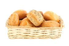 Free Bowl With Bread Rolls. Stock Photos - 5194453