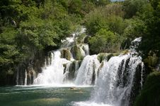 Free Krka Waterfall Stock Images - 5194534