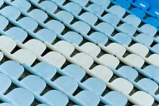 Free Stadium Chairs Blue Colored Stock Images - 5194684