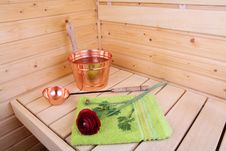 Free Interior Of A Finnish Sauna Stock Images - 5194754