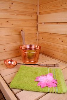 Free Interior Of A Finnish Sauna Royalty Free Stock Image - 5194756