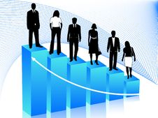 Free Business People And Graph Royalty Free Stock Image - 5194946