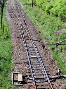 Free Railway Junction Royalty Free Stock Photo - 5195075