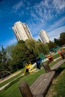 Free Playground In The City Stock Photography - 5195122