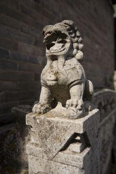 Free Lion Stone Sculpture 4 Stock Photos - 5195343