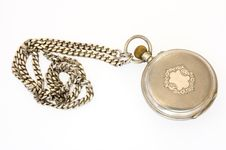 Free Old Silver Pocket Watch. Royalty Free Stock Image - 5195606