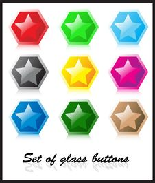 Free Set Of Glass Buttons Royalty Free Stock Photo - 5195875