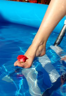 Free Leg In Pool Royalty Free Stock Photography - 5196927