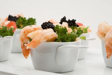 Free Prawn Appetizer With Caviar Royalty Free Stock Photos - 5196928