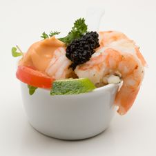 Free Prawn Appetizer With Caviar Royalty Free Stock Photos - 5196948