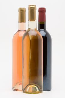 Free Red White And Rose Wine Bottles Stock Photography - 5197232