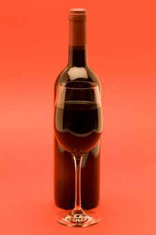 Red Wine On Red Background Stock Photography