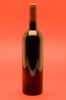 Red Wine On Red Background Stock Images