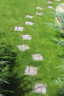 Free Garden Stone Path Stock Photos - 5197493