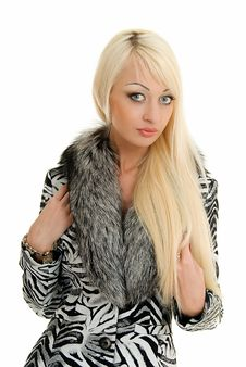 Free Blonde In Furs Royalty Free Stock Images - 5197619