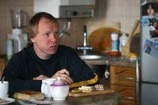 Free Having Breakfast The Man Royalty Free Stock Photography - 5198377
