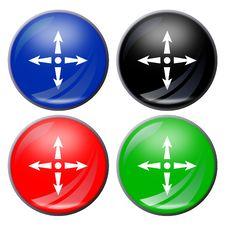 Arrows Button Royalty Free Stock Photo