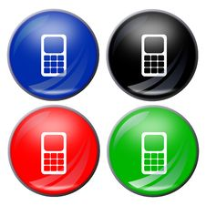 Free Phone Button Stock Image - 5198471