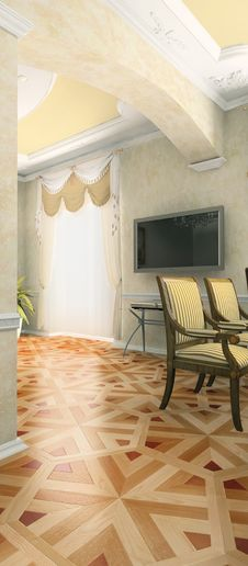 Part Of The Modern Interior Stock Image