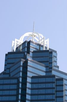 Free Top Of Blue Office Tower Stock Photo - 5199370